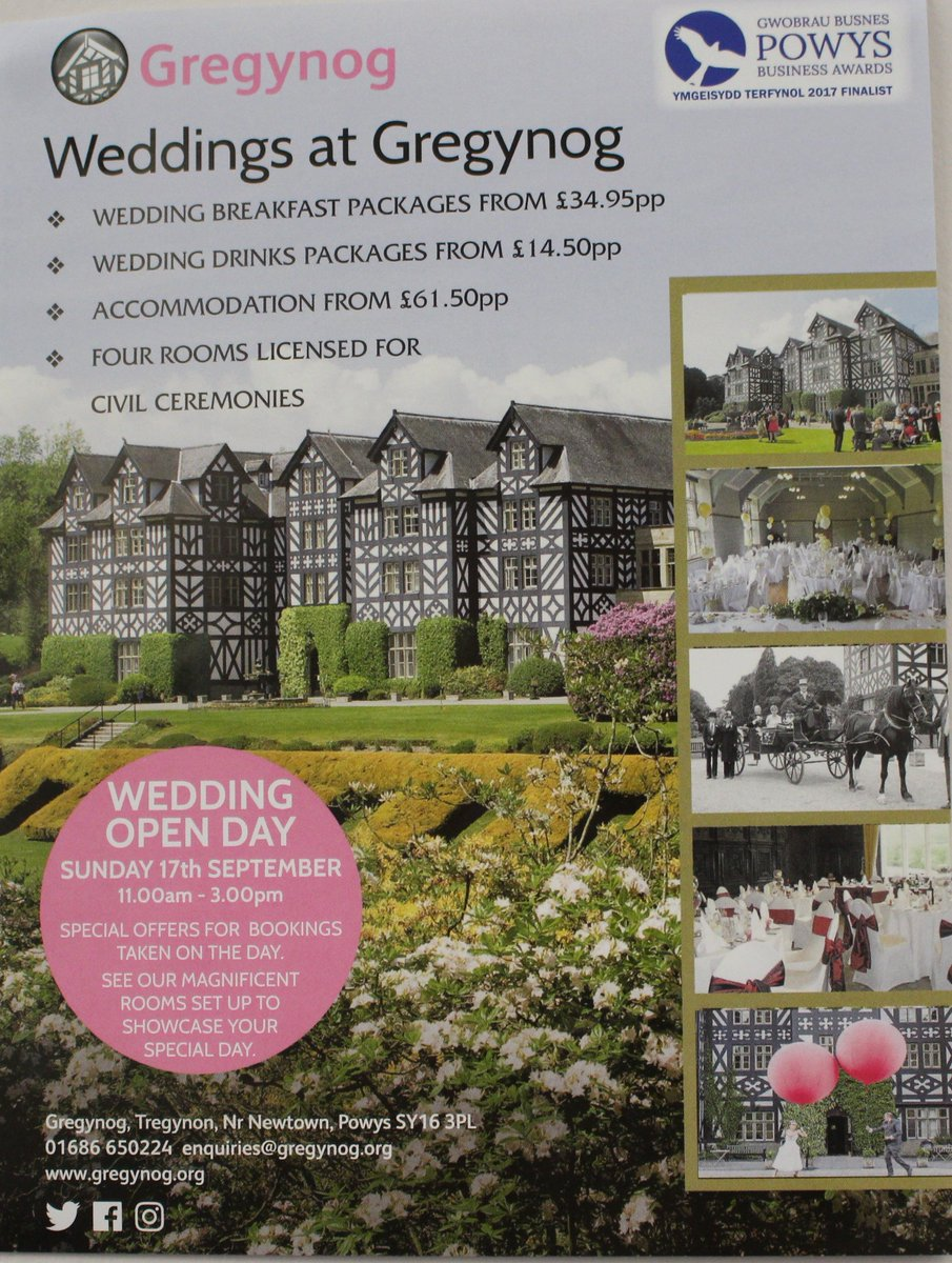 Looking for a wedding venue for that special day? we have our open day on Sunday from 11.00am-3.00pm #weddingsmidwales #specialday <br>http://pic.twitter.com/nYenwaGYCA