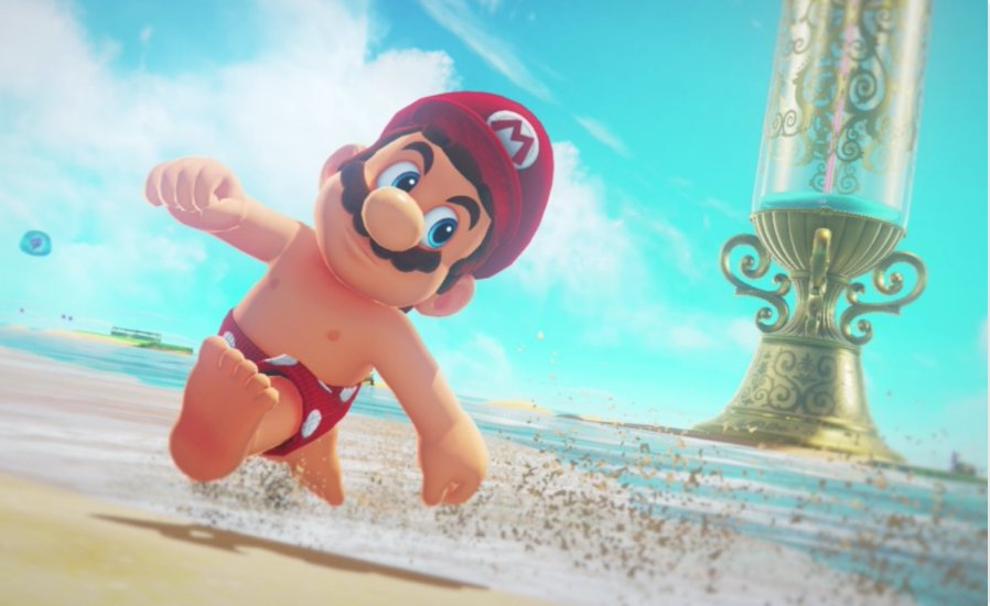 Shirtless #Mario has given me fitness goals!