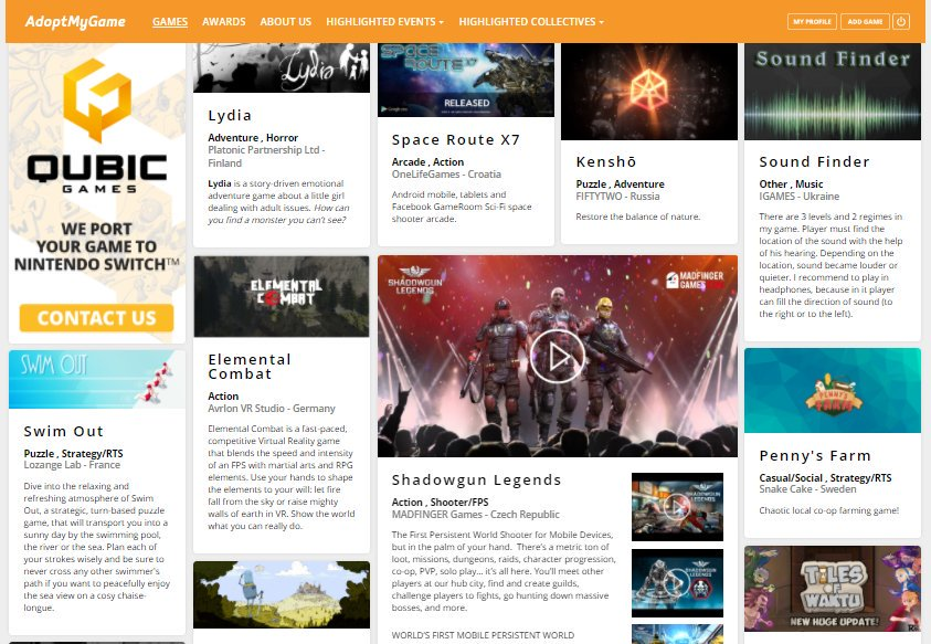 15 NEW GAMES added yesterday! 15 #gamedev with various #b2b needs from...  http:// adoptmygame.com.convey.pro/l/orLZGJz  &nbsp;   by #nautabotnews via @c0nvey<br>http://pic.twitter.com/uCqf8hUaHa