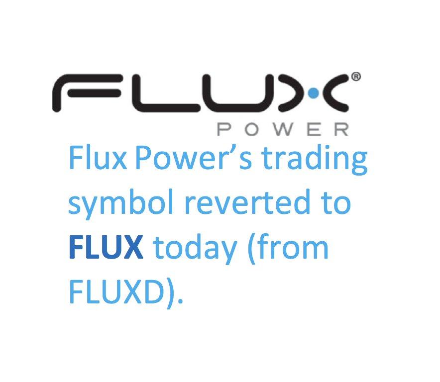 Flux Power Lithium On Twitter Stock Symbol Of Lithium Forklift