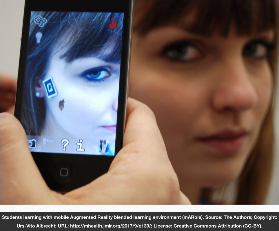 JMIR #mHealth: Mobile #AugmentedReality as a Feature for Self-Oriented, Blended Learning in Medicine: #RCT  http:// mhealth.jmir.org/2017/9/e139/  &nbsp;  <br>http://pic.twitter.com/HYPhm8yaHI