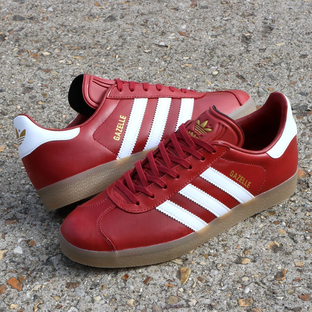 adidas gazelle red leather