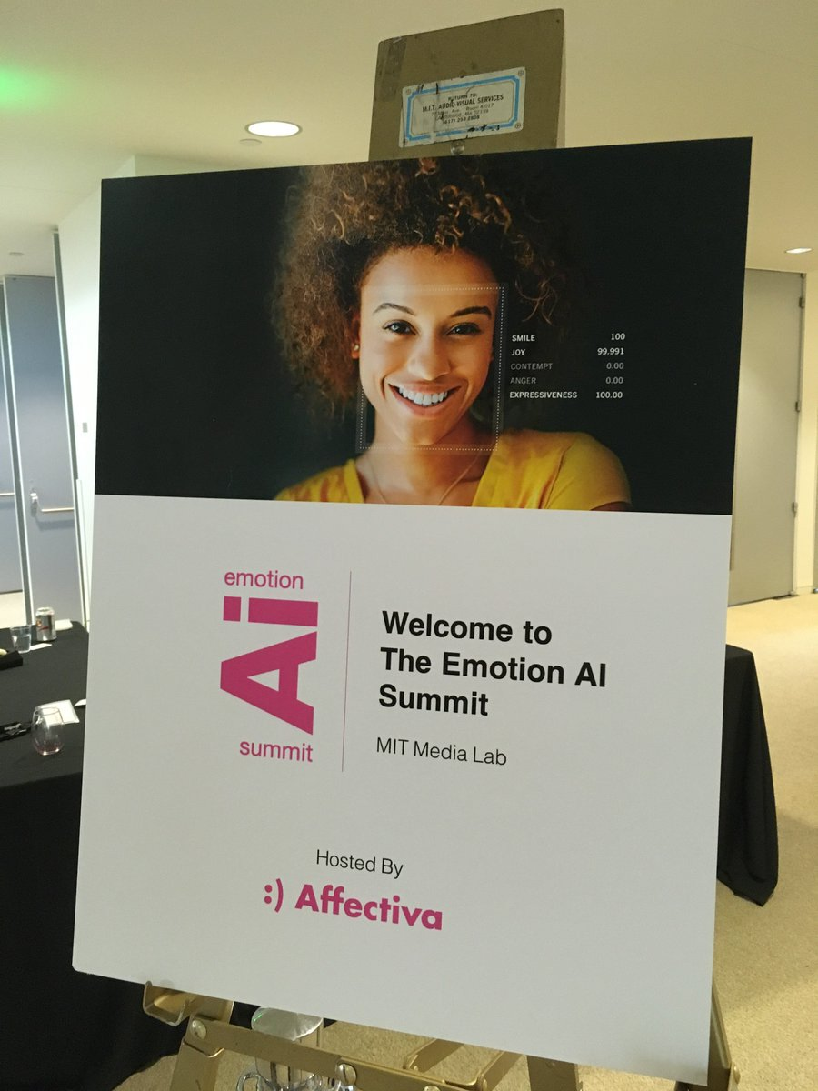 Thank you Rana el Kaliouby and @Affectiva team for a fantastic and inspiring day at #EmotionAISummit at MIT Media Lab yesterday! <br>http://pic.twitter.com/CG0yipMJu0