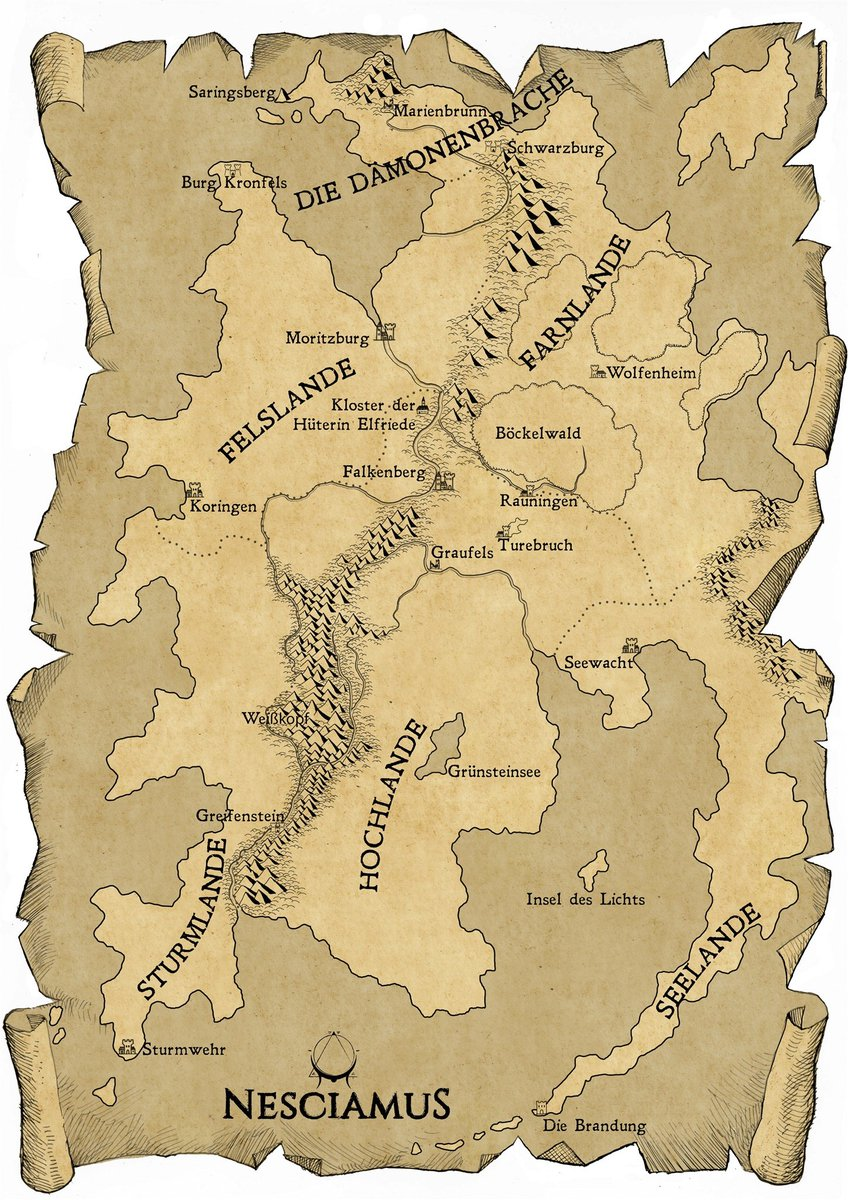 Legion World Map.Dragon Legion On Twitter An Early Map Of The World Of Nesciamus