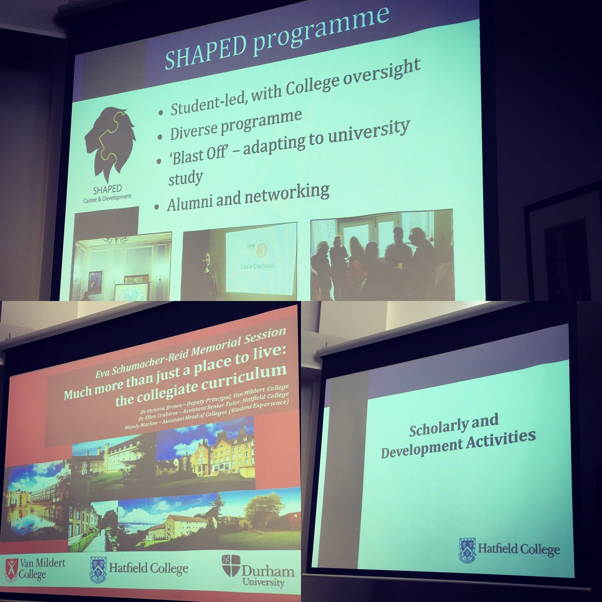 Sharing the exciting #scholarly &amp; #development activities on offer at Hatfield @durham_uni Learning &amp; Teaching conference today <br>http://pic.twitter.com/msG6UY13ws