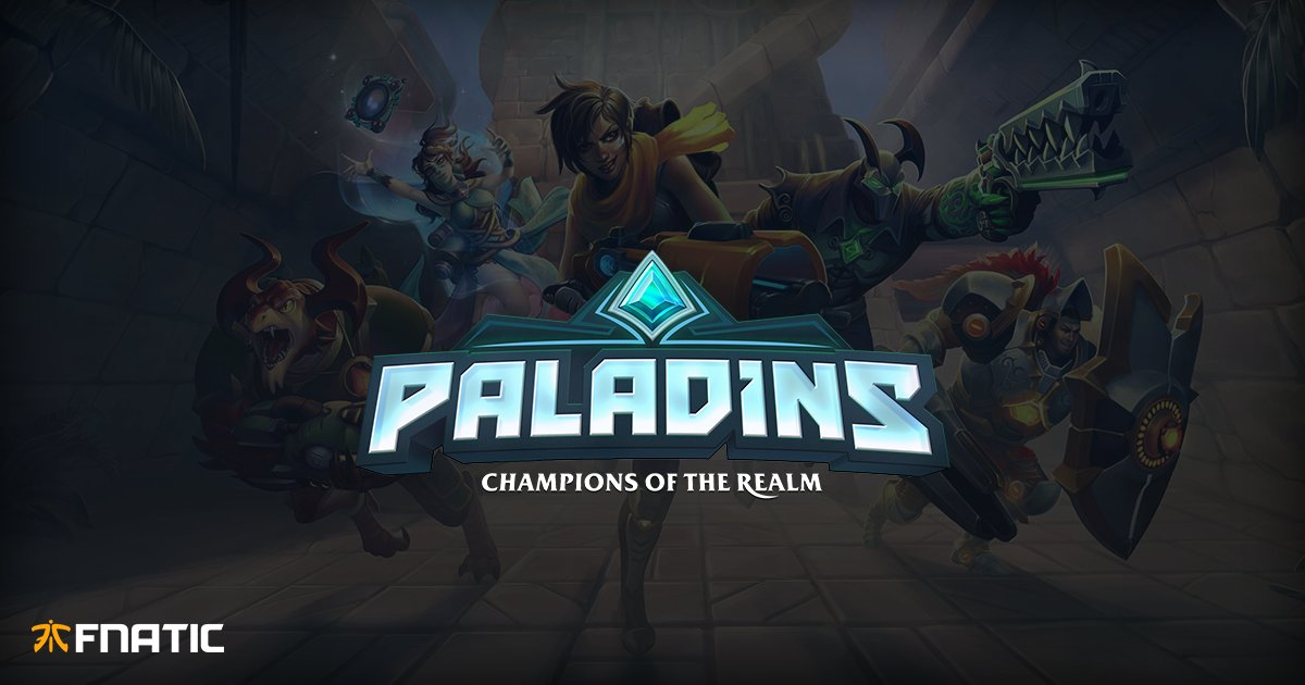 Todays the day! Welcome, Fnatic Paladins 🔥 👉 fna.tc/44ShvO