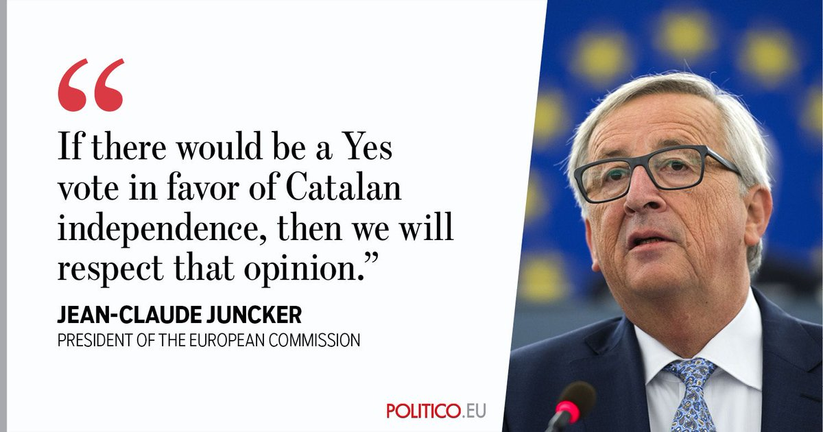 Jean-Claude Juncker has sent a positive message from the European Commission to Catalan secessionists https://t.co/oxFc25AxkY