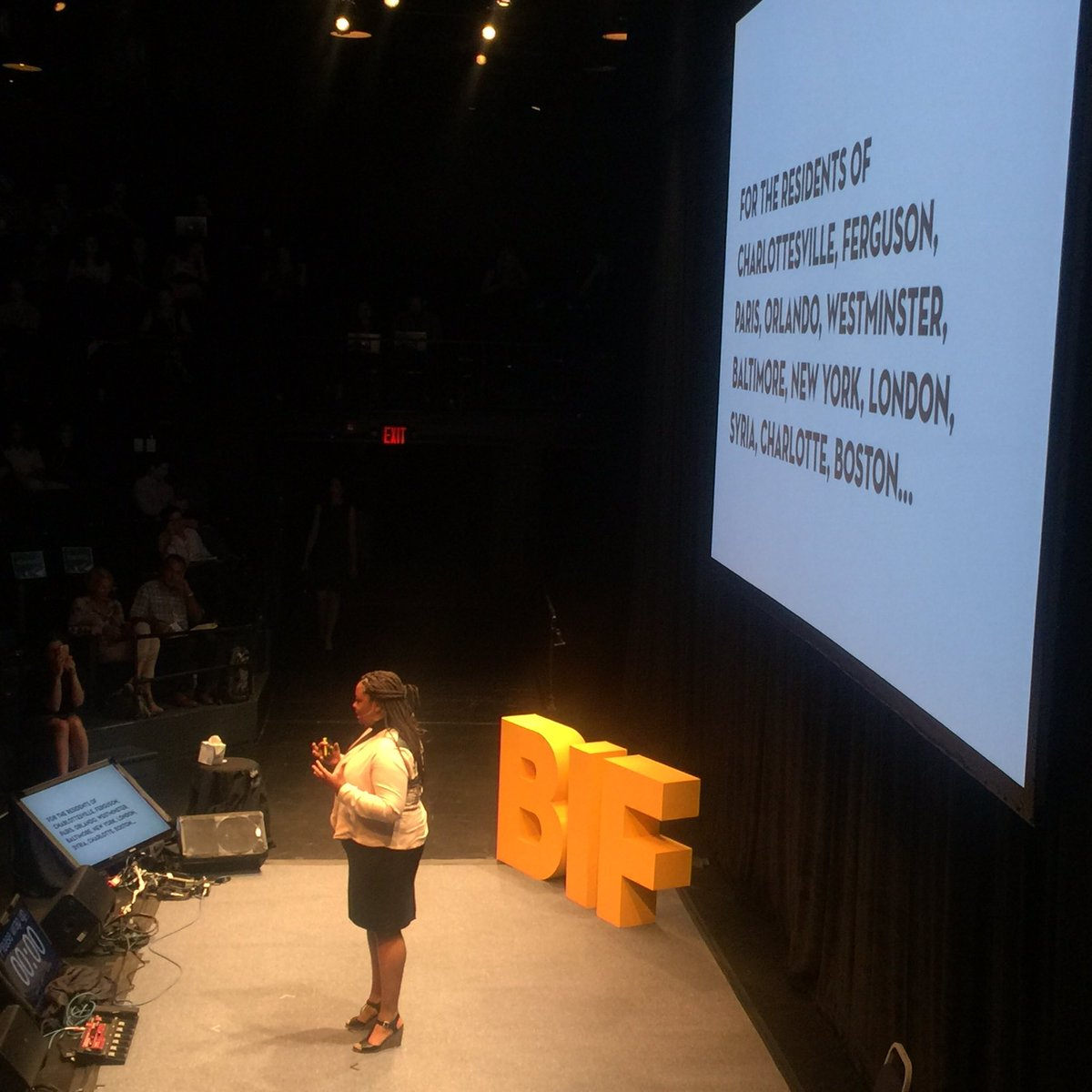 @acarrolldesign dedicates her #BIF2017 Summit story to residents--not citizens--modeling intentionality and inclusivity with language <br>http://pic.twitter.com/wXUZcCFk6Q