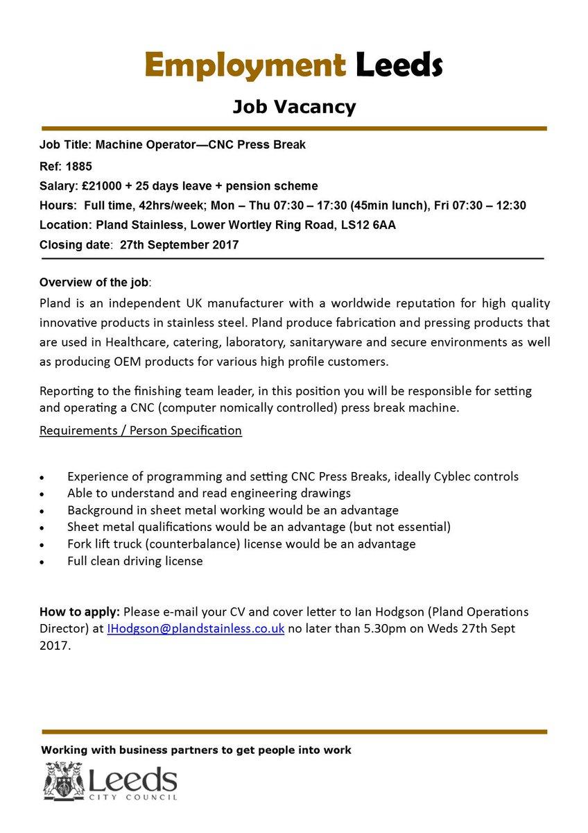 Supporting Jobsearch على تويتر Steel Manufacturing Job Leeds