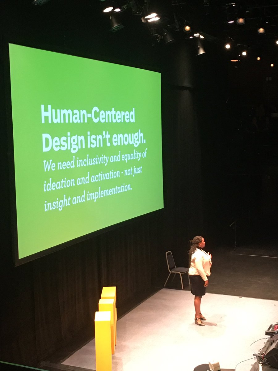 &quot;We need to understand power dynamics&quot; @acarrolldesign on #equitycentereddesign #BIF2017 <br>http://pic.twitter.com/4XIx7hK6y7