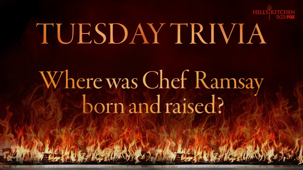 Don&#39;t think too hard on this #TuesdayTrivia.  #HellsKitchen<br>http://pic.twitter.com/Jh3i56RuR8