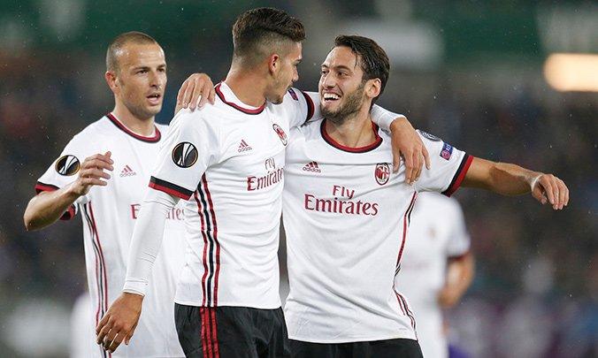 أهداف ميلان وأوستريا فيينا فى الدوري الأوروبي