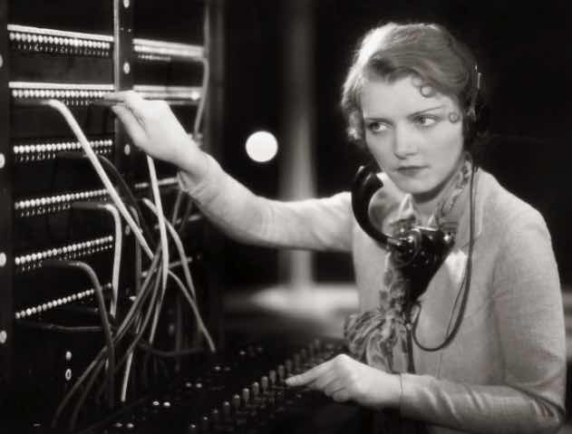 Image result for old telephone operator