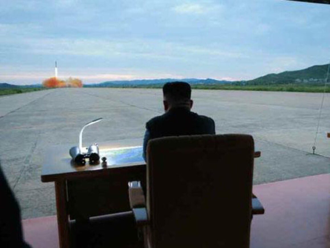 Another day at the office for #KimJongUn.   #missile #Pyongyang #Japan #NorthKoreaMissileCrisis #SouthKorea #trump<br>http://pic.twitter.com/2XYQ00N5Ja