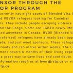 Please share: become a #refugee #sponsor through the #BVOR program @RSTP_ca