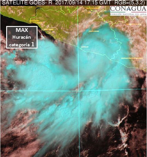 Huracán Max toca tierra en Guerrero