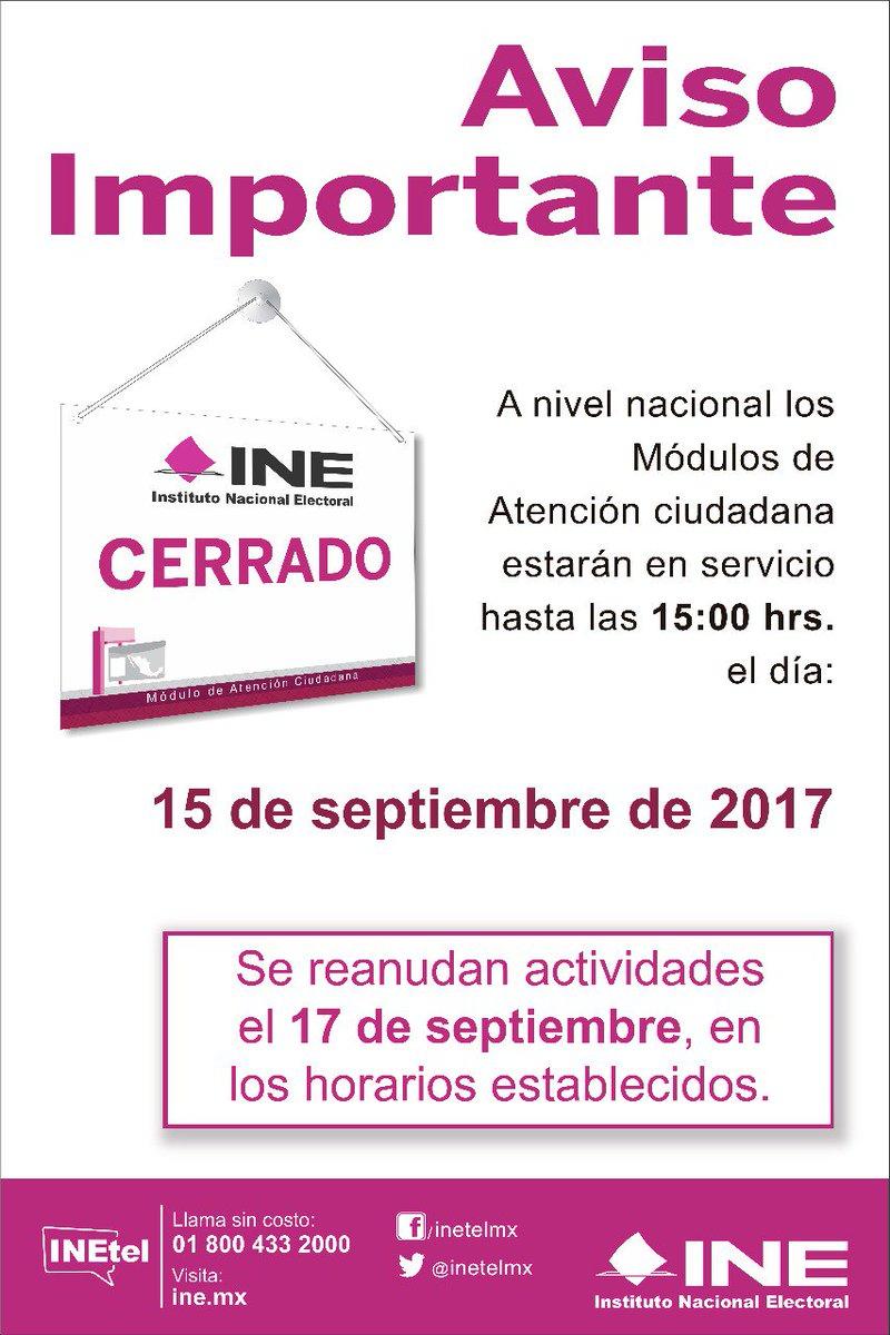 Ine Chiapas On Twitter Atencion Los Módulos De Atención