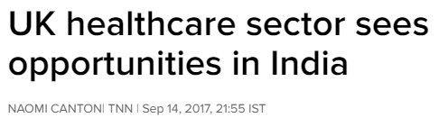 @TOIIndiaNews features news abt #IndiaHealthcareSummit, held @ #UKParliament #healthcare #SwasthaBharat  http:// timesofindia.indiatimes.com/india/UK-healt hcare-sector-sees-opportunities-in-India/articleshow/60517248.cms &nbsp; …  @naomi2009<br>http://pic.twitter.com/imduTDA9Gk
