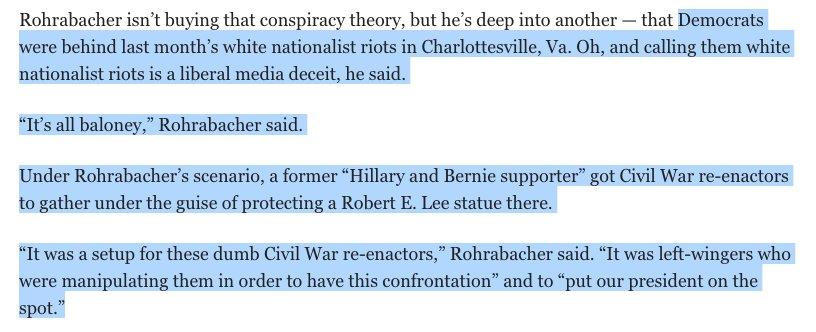Dana Rohrabacher had some odd things to say to @joegarofoli about #Charlottesville. #CA48 https://t.co/SRkq1NL6R1