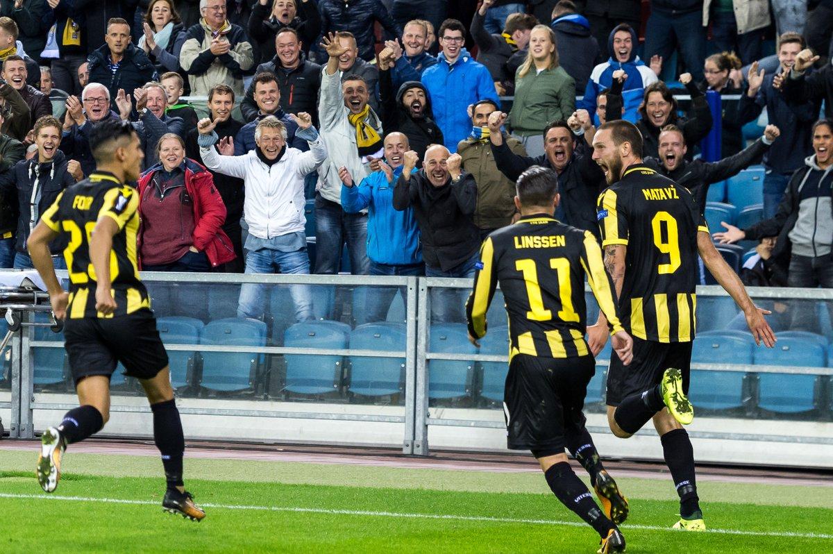Tim Matavz apre le marcature al 33' di Vitesse - Lazio della prima giornata di Europa League. Foto: Getty.