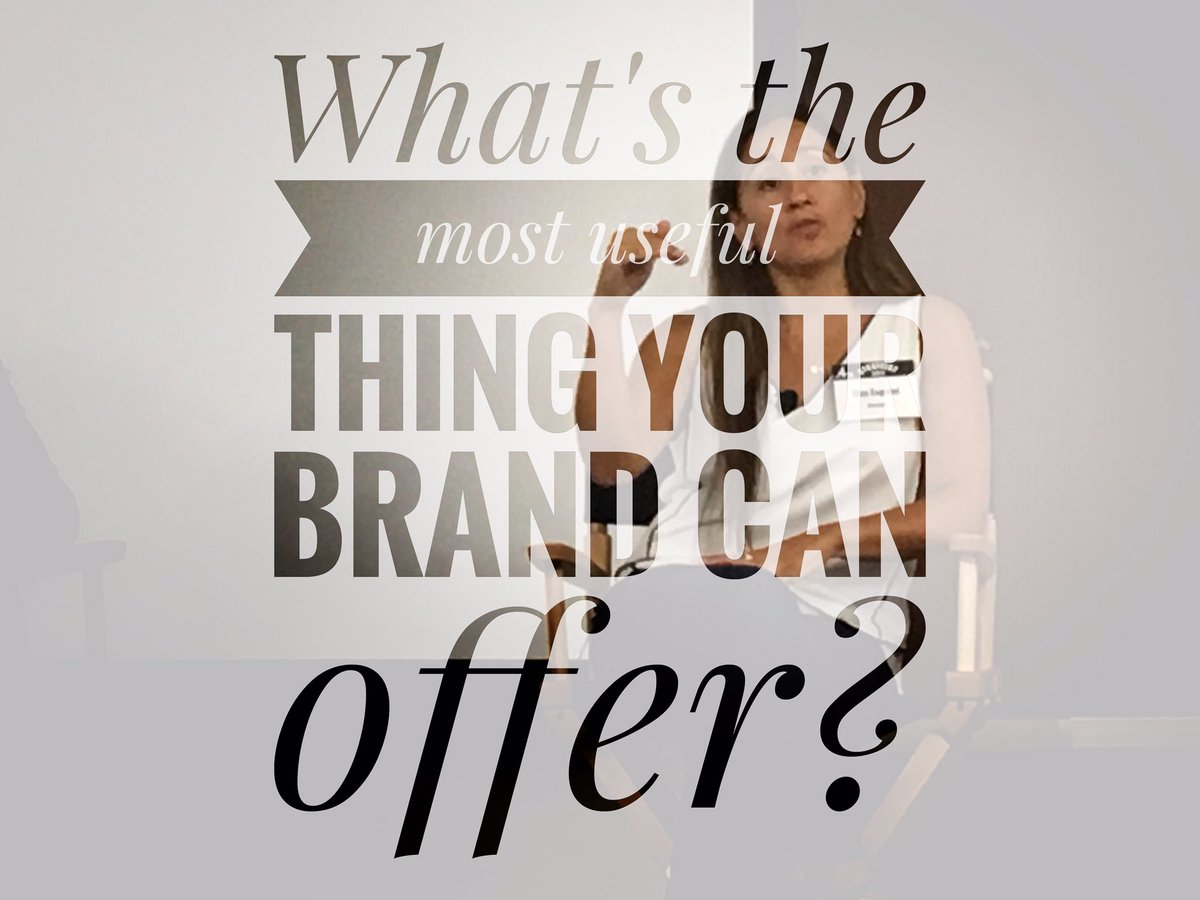 &quot;Being useful is more powerful than being cute or funny. What&#39;s the most useful thing your #brand can offer?&quot; -@elizaesqui #4AsStratFest <br>http://pic.twitter.com/iPkr4JkLBg