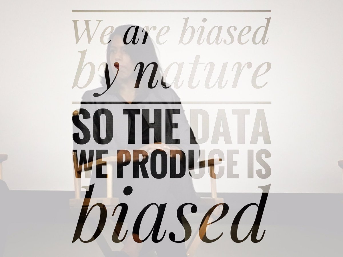 &quot;We are biased by nature so the #data we produce is biased&quot; -@SharonaMom1 #4AsStratFest #AI #tech #strategy #marketing<br>http://pic.twitter.com/XZxPmsKpe0