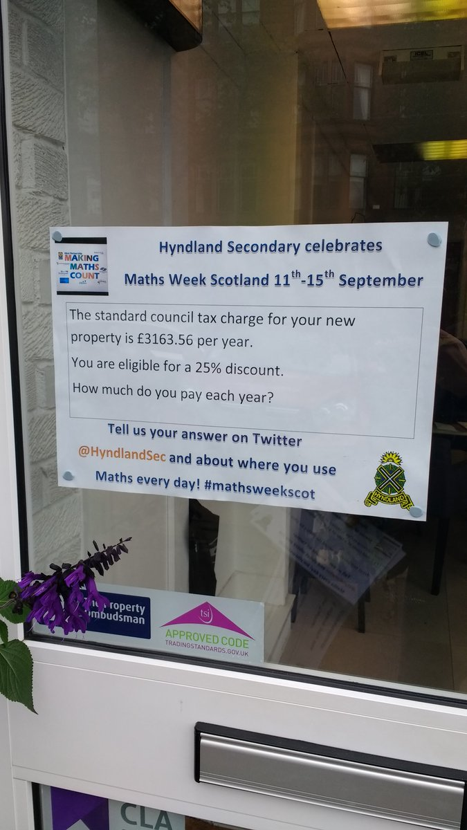 @hyndlandsec Told Mrs PT Maths I might be looking for a new job after #MathsWeekScot #cakegate Our friends @IvyProperty can hopefully help!<br>http://pic.twitter.com/LPsUGYEmwJ