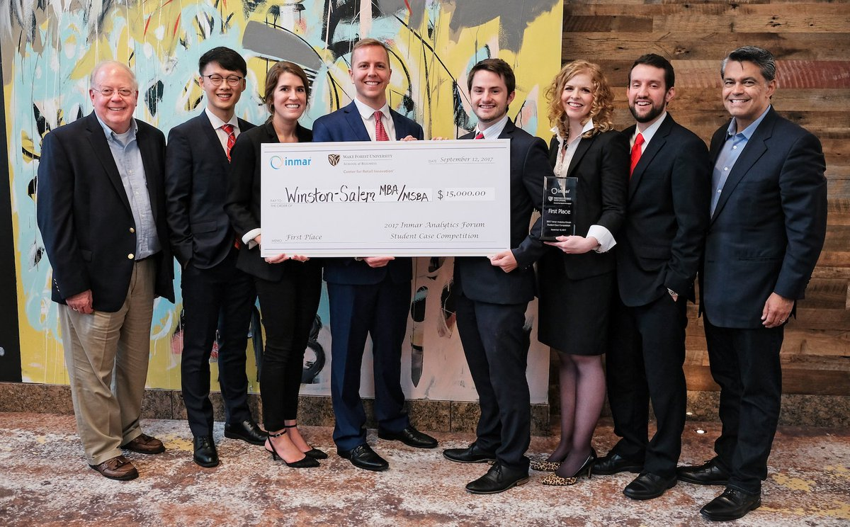 A team of Winston-Salem #wakebizmba #wakebizmsba students takes top prize in the #InmarForum case competition. https://t.co/rNSFstbb2o