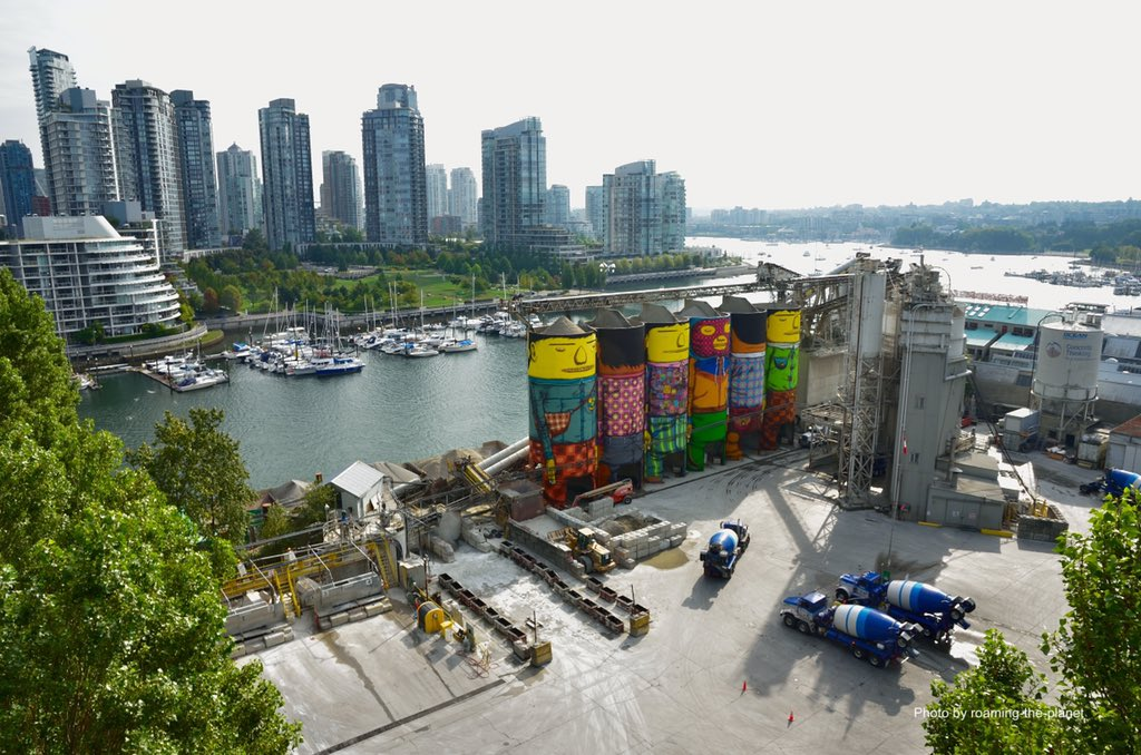 We&#39;re thrilled to have spectacular @OsGemeos #publicart mural in #Vancouver as part of the #VanBiennale&#39;s open-air exhibition! #placemaking<br>http://pic.twitter.com/5S68aYPkGk