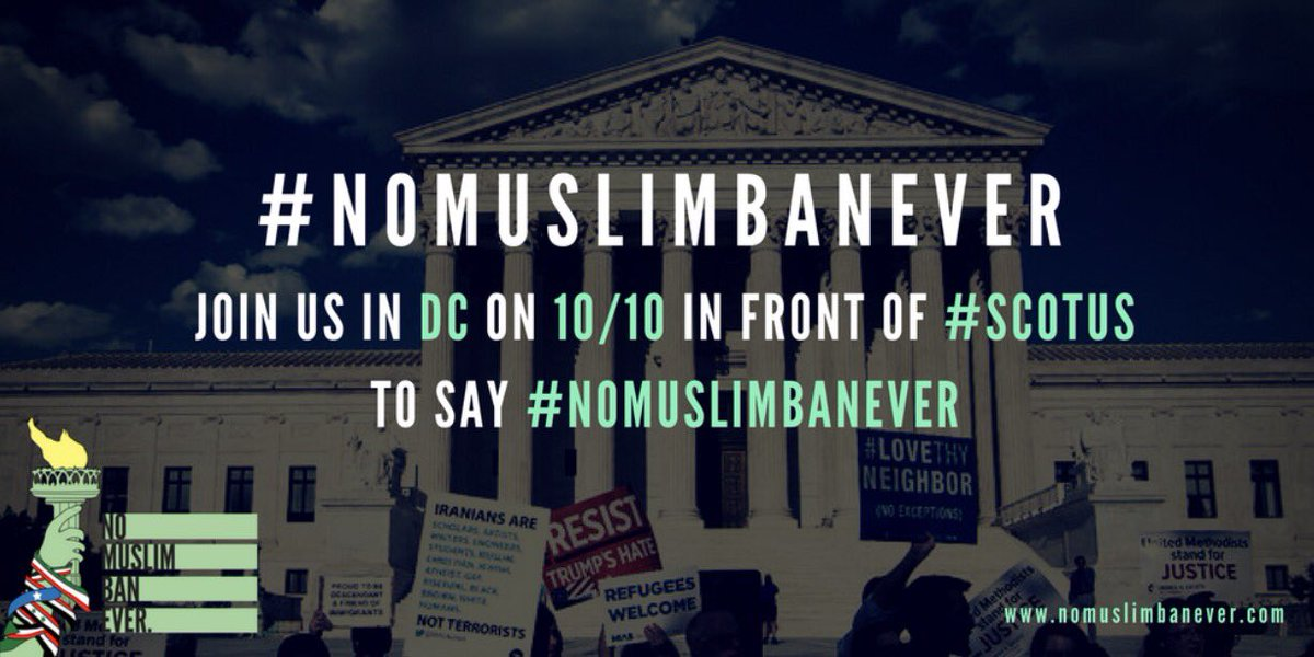 ... on 10/10 & we all need to be there to say #NoMuslimBanEVER! https://www.facebook.com/events/1142753212491355/?ti=icl …pic.twitter.com/kIIqAsHGee