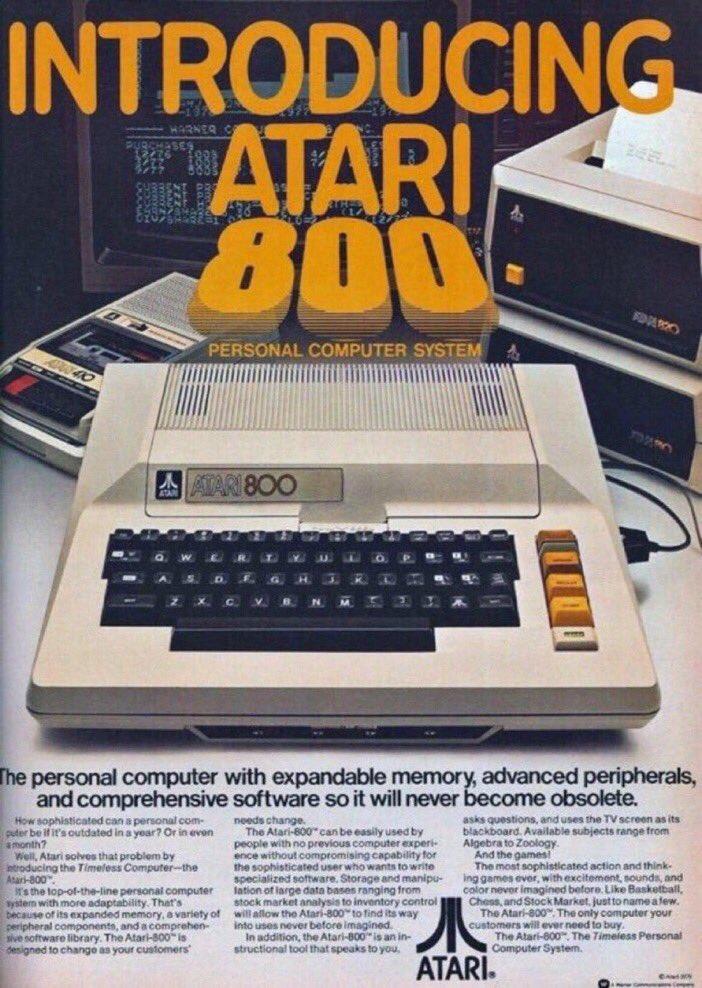 'It will never become obsolete.' —ATARI 1979