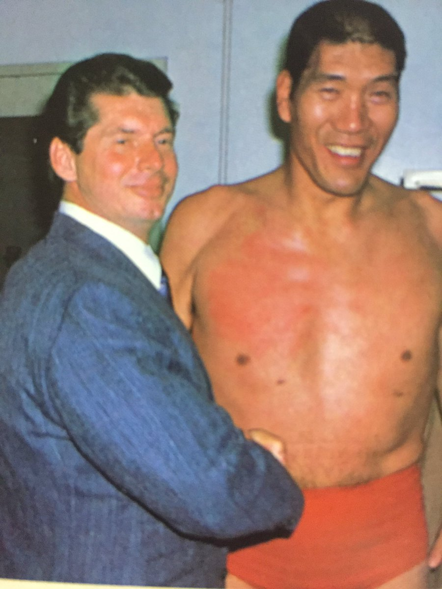 Vince Mcmahon and Giant Baba hanging out : SquaredCircle