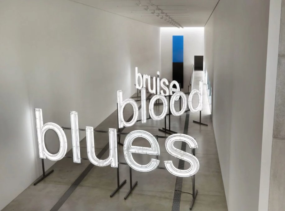 Inspired by #EllsworthKelly, artist #GlennLigon curates &#39;Blue Black&#39; exhibition @pulitzerarts.  Open through 10/7 →  http:// artnt.cm/2f8Uut9  &nbsp;  <br>http://pic.twitter.com/VUcABjAjno