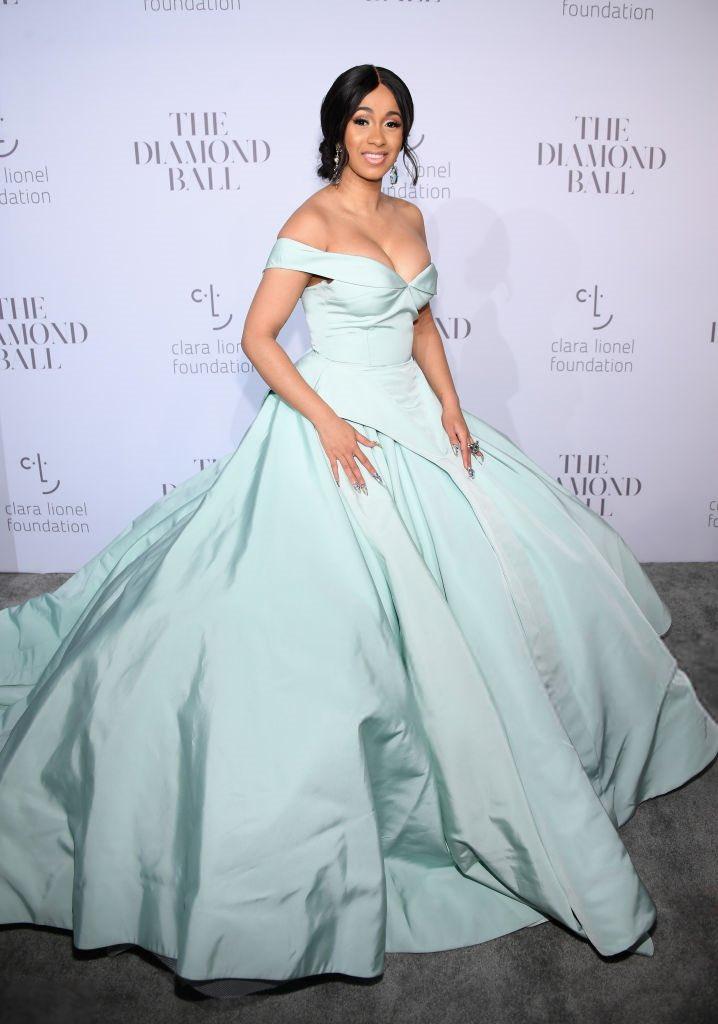Cardi B is the belle of the #DiamondBall 👗💎