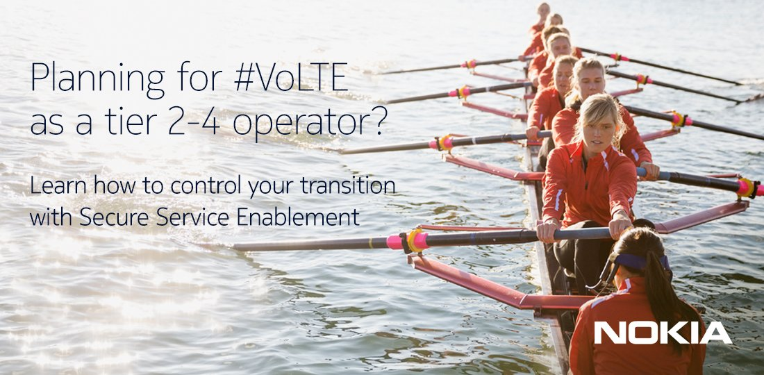 Planning for #VoLTE as a tier 2-4 operator? Learn how to control your transition with Secure Service Enablement:  http:// nokia.ly/2jtMY0K  &nbsp;  <br>http://pic.twitter.com/4609iJlA9L