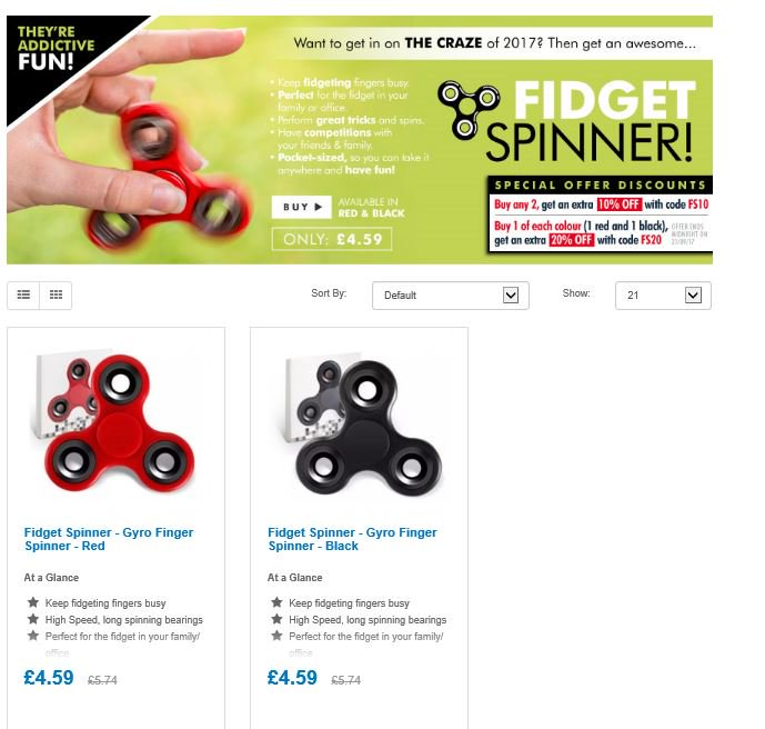 Save on Fidget Spinners  http:// ow.ly/MVob30f9KmP  &nbsp;   #RT #Follow #Win save share  #MultiBuy any 2 10% off 1 of each colour 20% off @FrugalDealsUK<br>http://pic.twitter.com/1x96Bg7hmc