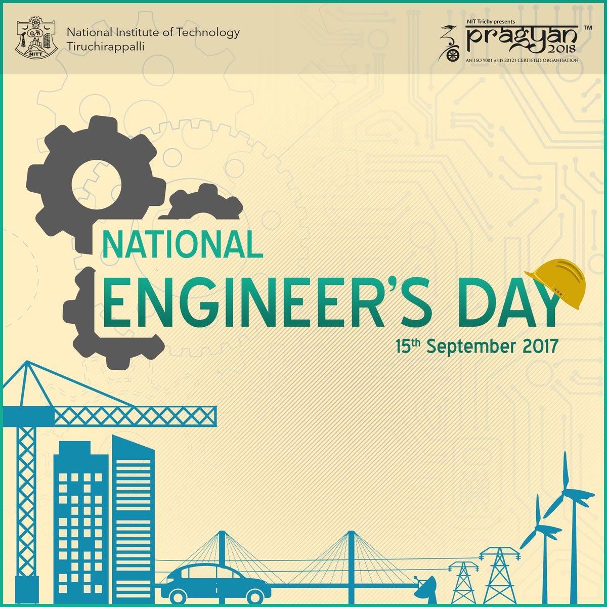 #Pragyan celebrates #EngineersDay and salutes Bharat Ratna M. Visvesvaraya, a leader by example. #LetsCelebrateTechnology #Engineers<br>http://pic.twitter.com/KnVvuDm42s