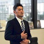 会見後、球団事務所にてスタッフに挨拶を頂きました。飯山選手、本当にお疲れ様でした。10/3は札幌ドー…