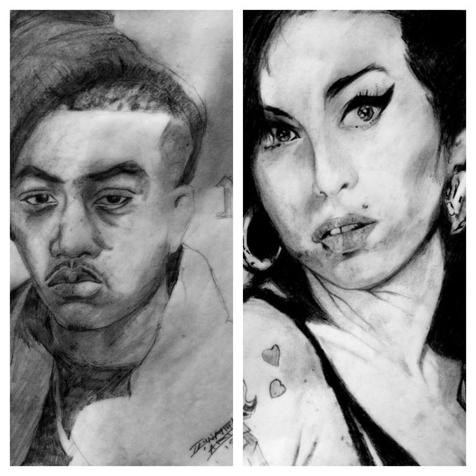 Happy bday to Nas and Amywinehouse