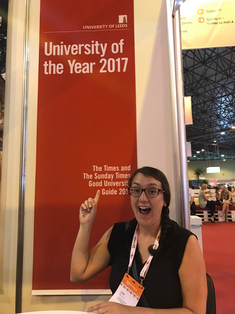 Wonderful to meet with partners like Lisa from @UniversityLeeds - a favourite with our students! @Griffith_Intl #EAIE <br>http://pic.twitter.com/VqbvzloGBW