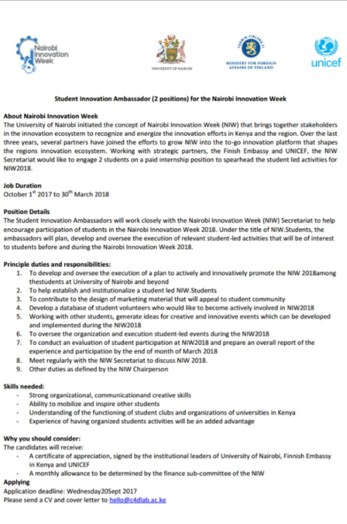 Student looking for employment