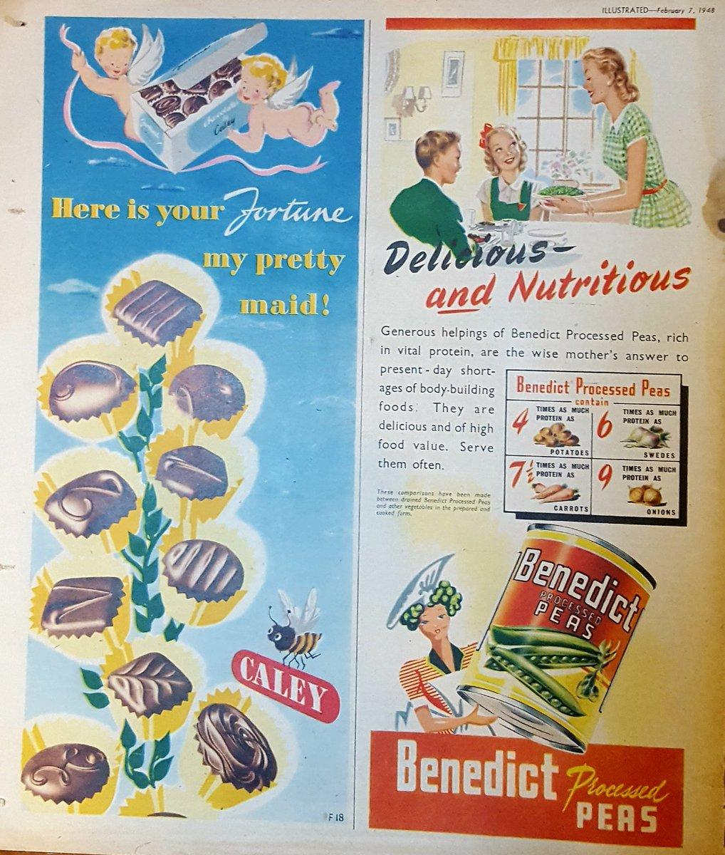 Chocolates or processed peas for that #FridayFeeling?! #vintage #vintageadvertising #illustration #illustratedmagazine #chocolate #peas <br>http://pic.twitter.com/DNCoY0xomq