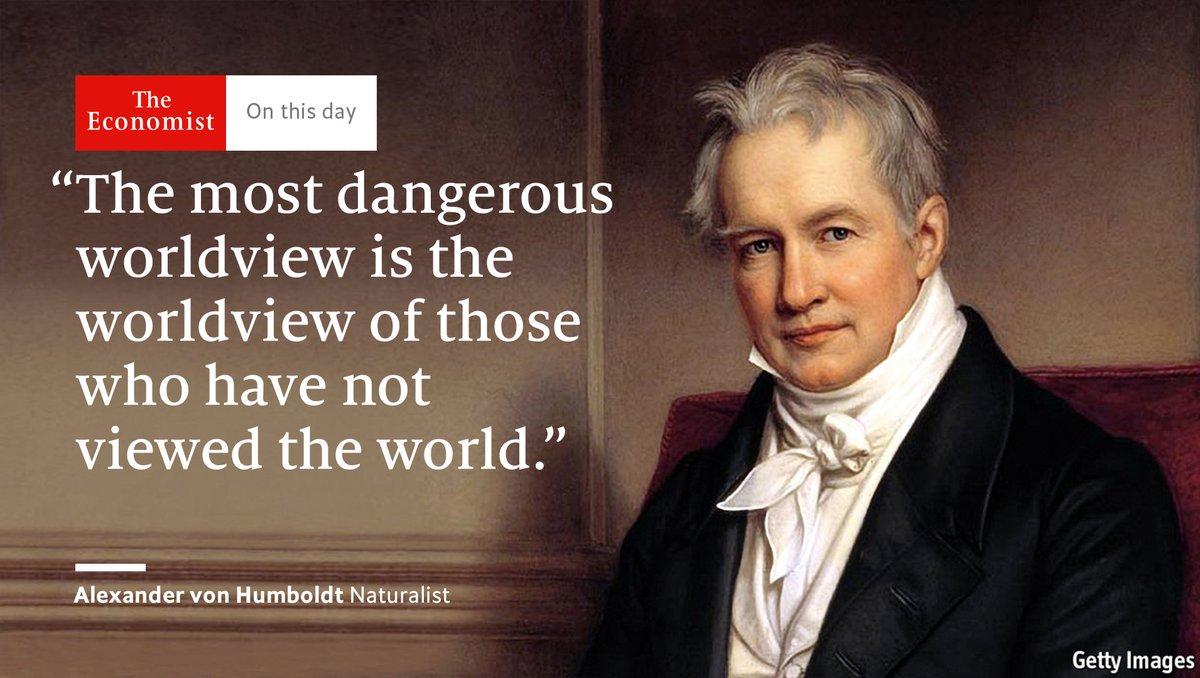 """""""La visión más peligrosa del mundo es la de quienes no lo han visto"""" —Alexander von Humboldtpic.twitter.com/acdrRqnknU"""