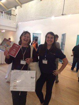 Joanna Martin @AbleGirlPlumber won raffle 1st prize @ #WITConference....