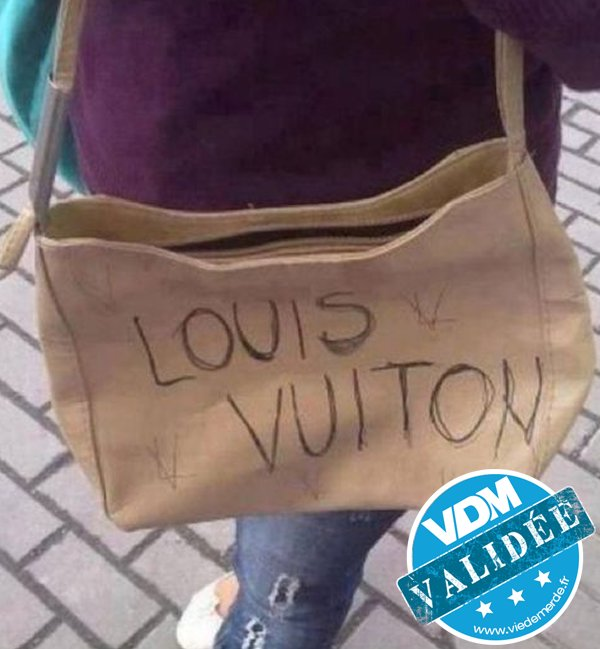 Toi aussi t'as pas ton Vuiton ? Petit joueuse... #VDM #viedemerde #LouisVuiton #LifeHack https://t.co/jjEc2uvIru