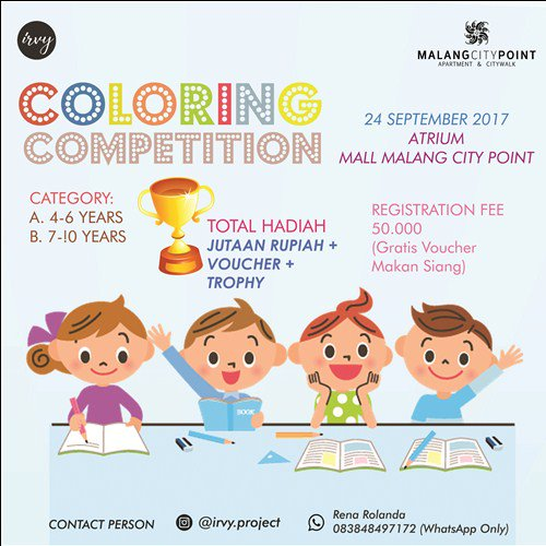 Event Malang On Twitter Coloring Competition By Irvy