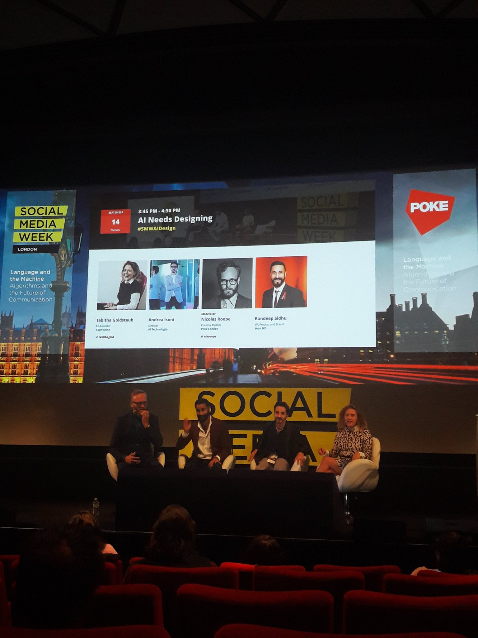 Hope some of you guys came to see us at #smwldn Great talk with @tabithagold Andrea Isoni and Randeep Sidhu https://t.co/w5cyvetQKd