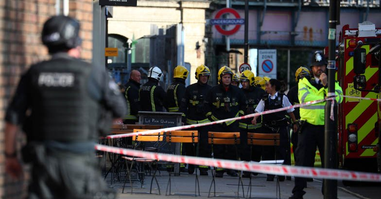 A London Ambulance Service spokesman said: 'We are on scene alongside the Metropolitan Police at Parsons Green.'