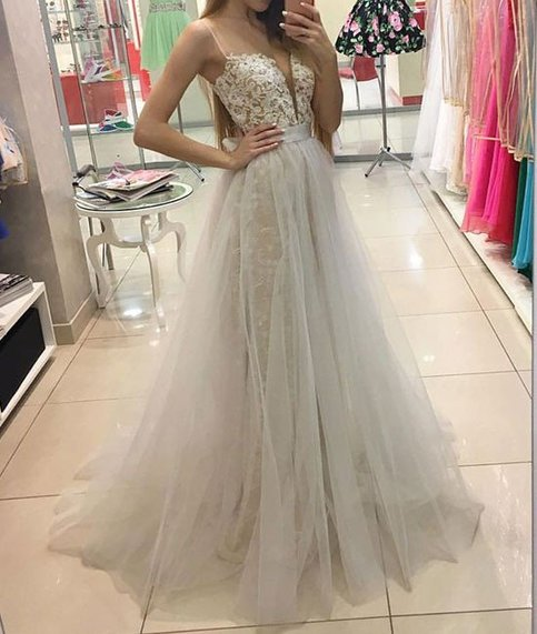 White Sweetheart Lace Tulle Long Prom Dress, White Evening Dress, Charming Prom  https:// seethis.co/RQQMW6/  &nbsp;   #prom dress #prom dresses 2017 <br>http://pic.twitter.com/08epPnG6Id