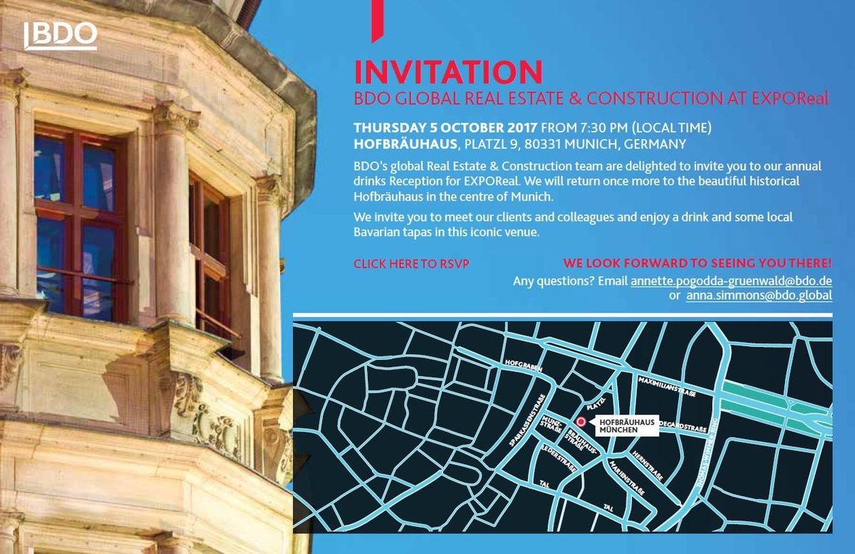 Will you be at #ExpoReal2017? Join the global real estate group at the Hofrbrau Haus!  https://www. surveymonkey.co.uk/r/6R8DPXW  &nbsp;   #invitation <br>http://pic.twitter.com/NnqhncTwds